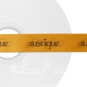 50m Roll of Personalised, Custom Printed 25mm Wide ORANGE Double Faced Satin Ribbon - choose your print colour