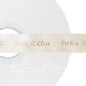 25mm Cream printed ribbon 50m roll personalised cream ribbon