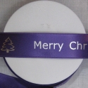 25mm PURPLE Personalised printed ribbon, 50m roll