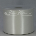 100mm Ivory plain satin ribbon