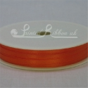 3mm Bright Orange Double Faced Satin Ribbon