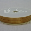 3mm Bronze Double Faced Satin Ribbon