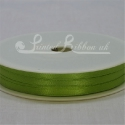 3mm lime green plain satin ribbon