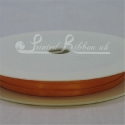 3mm orange plain satin ribbon