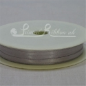 3mm silver plain satin ribbon