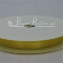 3mm yellow plain satin ribbon