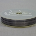3mmdark grey plain satin ribbon