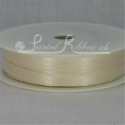 7mm Cream plain satin ribbon