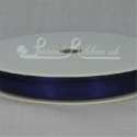 7mm Dark purple plain satin ribbon