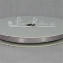 7mm Dark silver plain satin ribbon