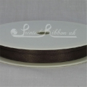 7mm Expresso brown plain satin ribbon