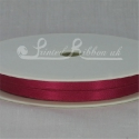 7mm Lobster pink plain satin ribbon