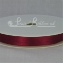 7mm Merlot burgundy plain satin ribbon