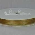 7mm New gold plain satin ribbon