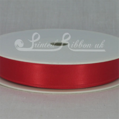 RD15BRED25M BRIGHT RED 15mm Double faced satin ribbon - 25m roll