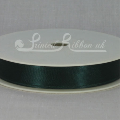 RD15BTLE25M BOTTLE GREEN 15mm Double faced satin ribbon - 25m roll