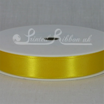 RD15SYEL25M SUNFLOWER YELLOW 15mm Double faced satin ribbon - 25m ro