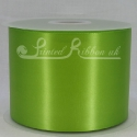 100mm Lime green plain satin ribbon
