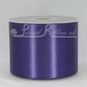100mm Purple plain satin ribbon