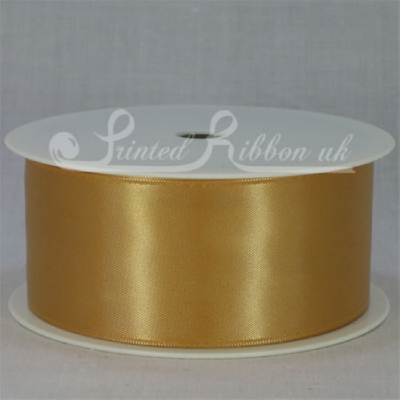 RD38BRNZ25M BRONZE 38mm Double faced satin ribbon - 25m