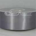 50mm Dark silver plain satin ribbon