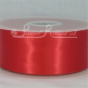 50MM BRIGHT RED PLAIN SATIN RIBBON