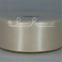 50MM CREAM PLAIN SATIN RIBBON
