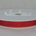 10mm Bright red plain grosgrain ribbon