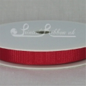 10mm Red plain grosgrain ribbon