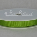 10mm Lime green plain grosgrain ribbon