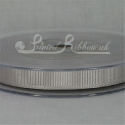 10mm Silver plain grosgrain ribbon