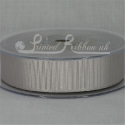 22MM SILVER GROSGRAIN RIBBON