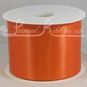 100mm Bright Orange Satin ribbon 50m roll