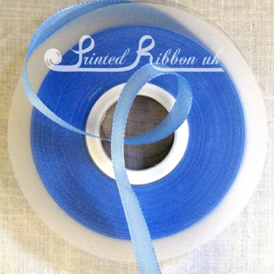 TR15LBLU50M 15mm LIGHT BLUE Taffeta Ribbon / Matt Ribbon x 50m Roll