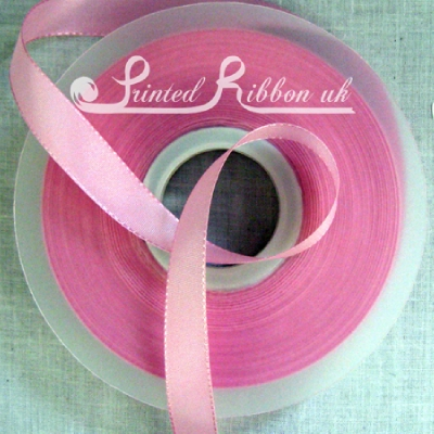 TR15LPNK50M 15mm LIGHT PINK Taffeta Ribbon / Matt Ribbon x 50m Roll