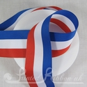 40mm Red, White & Blue Stripe Ribbon for Jubilee and Olympics - British colours