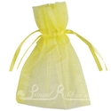 Yellow organza pouch for wedding favours