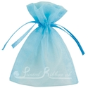 Light Blue organza pouch for wedding favours
