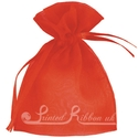 Red organza pouch for wedding favours