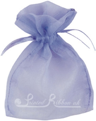 OPSMLLILC10 Small LILAC organza pouch for wedding favours, Pack of 10