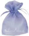Lilac organza pouch for wedding favours