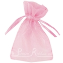 Light pink organza pouch for wedding favours