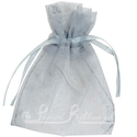 Silver organza pouch for wedding favours