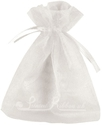 White organza pouch for wedding favours