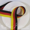 Black, red and yellow striped ribbon like German flag colours
