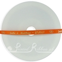 7mm Bright Orange personalised wedding ribbon 25m