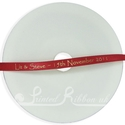 7mm Bright Red personalised wedding ribbon 25m