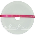 7mm Fuchsia personalised wedding ribbon 25m