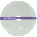 7mm Light Purple printed wedding ribbon 25m