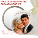 Personalised photo mirror for wedding favour gift